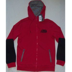 New Mens Red ecko unltd. Full Zip Hoodie Size L